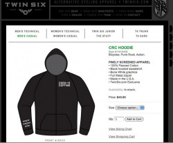 CRC Hoodies Back in Stock @ Twin Six-Nü Design